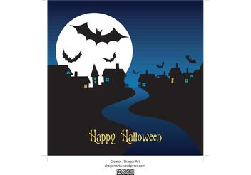 Halloween Night Vector - Kostenloses vector #145113