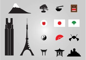 Japanese Icons - vector gratuit #145183
