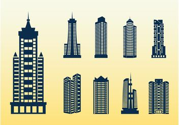 Tall Buildings - vector gratuit #145193