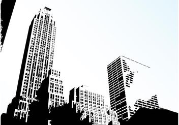 City Skyline Vector - vector gratuit #145233
