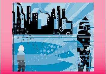 City Poster - vector gratuit #145243