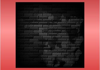 Dark Brick Wall - vector gratuit #145253