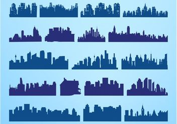 Urban Skylines Set - Free vector #145373