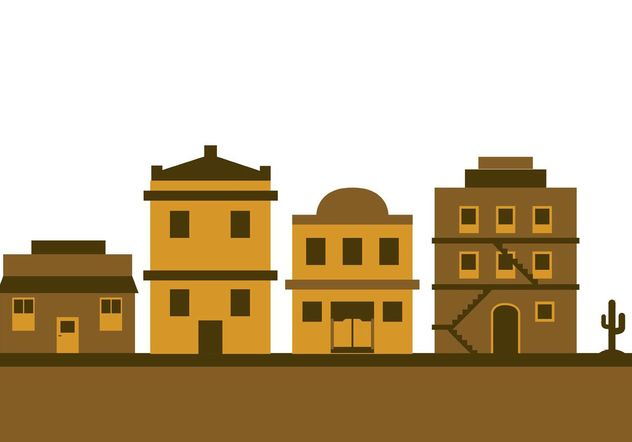 Old west town - Free vector #145413
