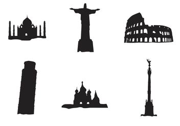 Vector Landmark Buildings - Free vector #145443