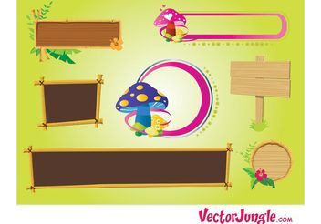 Nature Frames - vector #145483 gratis