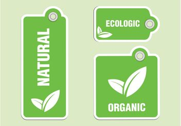 Organic Labels Vectors - бесплатный vector #145633