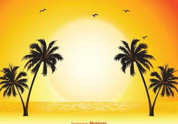 Tropical Scene Illustration - Free vector #145663