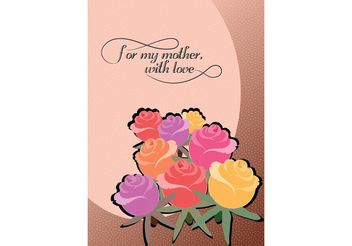 Vector Mother's Day Card - vector gratuit #145723