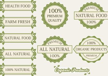 Organic Products Labels and Badges - бесплатный vector #145763