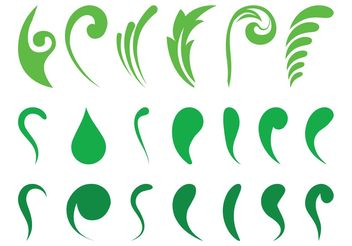 Abstract Leaves Set - vector gratuit #145783