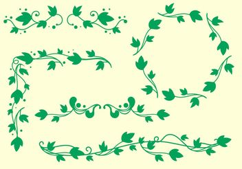 Simple Ivy Vine Vectors - Free vector #145893