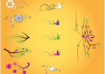Nature Illustrations - vector gratuit #145903