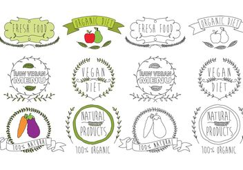 Natural Food Logo Vectors - vector gratuit #145953