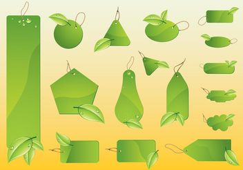 Eco Vector Labels - vector gratuit #145963