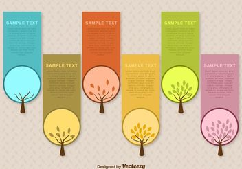 Seasonal Tree Label Vector Templates - vector gratuit #146013