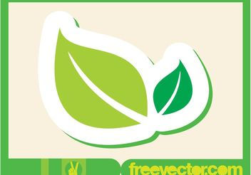 Leaves Icon - vector #146043 gratis