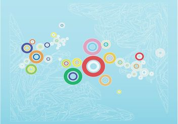 Colorful Circles Background Art - Free vector #146093