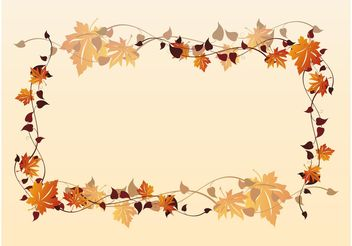 Fall Frame - vector #146123 gratis