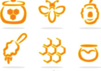 Blurry Honey Set Vector - бесплатный vector #146193