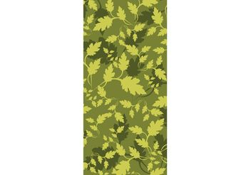 Leaves Camouflage Pattern - vector gratuit #146253