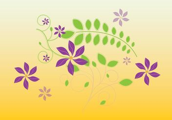 Cute Flowers Illustration - Free vector #146263