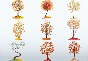 Autumn Tree Vector Bundle - vector gratuit #146313