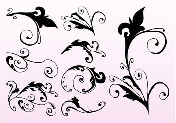 Swirling Plant Stems - Kostenloses vector #146423
