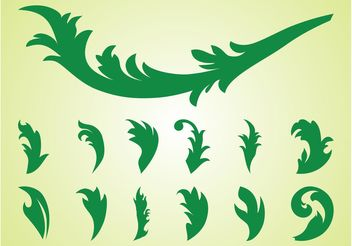 Leaves Silhouette Set - Free vector #146453