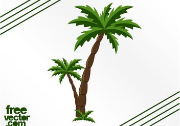 Palm Trees Graphics - Free vector #146473
