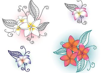 Free Vector Polynesian Flowers - Free vector #146523