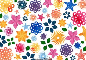 Floral Mosaic Background - vector gratuit #146533