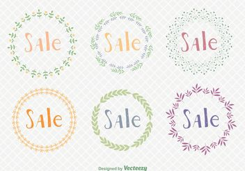 Sale Seasons Wreaths - бесплатный vector #146553