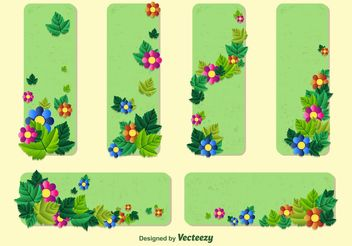 Spring Floral Banner Vector Templates - Free vector #146563