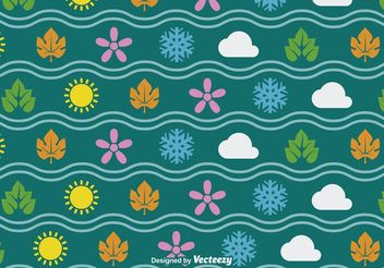 Four Seasons Seamless Vector Pattern - Free vector #146613