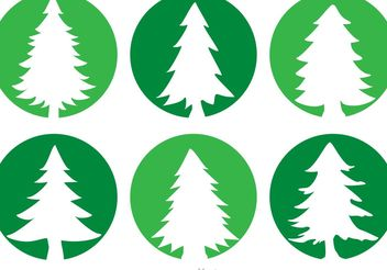 Cedar Trees Circle Vector Icons - Free vector #146633