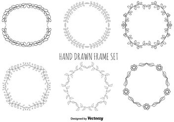 Hand Drawn Frame Set - vector gratuit #146653