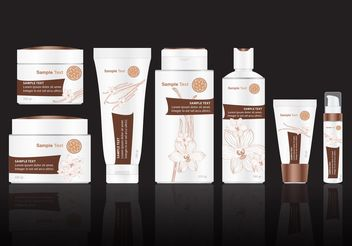 Vanilla Beauty Treatment Vector Pack - Kostenloses vector #146683