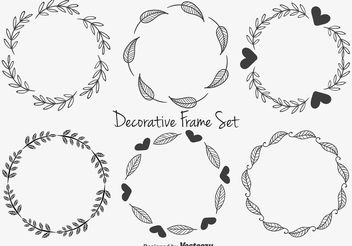 Cute Decorative Frames - vector gratuit #146693