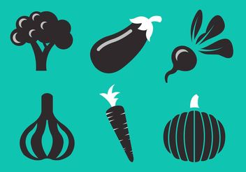 Vegetables Vector Collection - бесплатный vector #146783