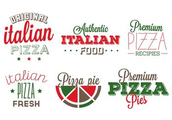 Italian Food Badges - Free vector #146803