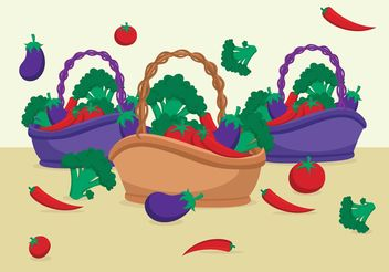 Food Basket Vectors - Free vector #146823