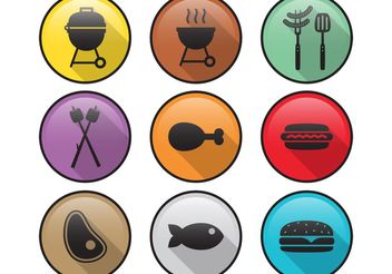 Flat Camp Food Vector Icons - Kostenloses vector #146953