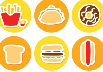 Set Of Fast Food Icons Vector - Free vector #147013