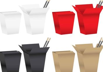Chinese Food Boxes - vector gratuit #147043