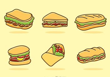 Fast Food Icons Vector - vector gratuit #147053