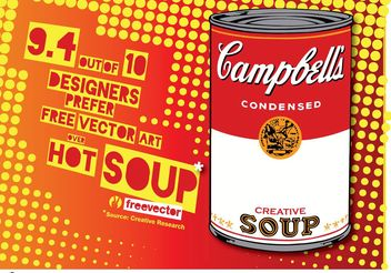 Pop Art Soup - vector gratuit #147083