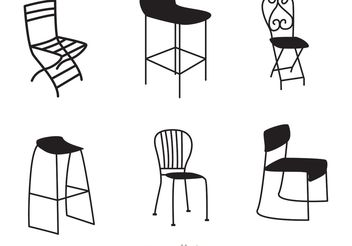 Restaurant Black Chair Vectors - бесплатный vector #147093