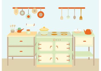 Cooking Utensils and Equipment Vectors - бесплатный vector #147103