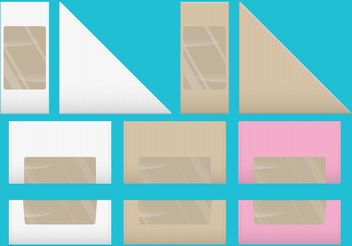 Sandwich And Dessert Vector Boxes - Free vector #147183